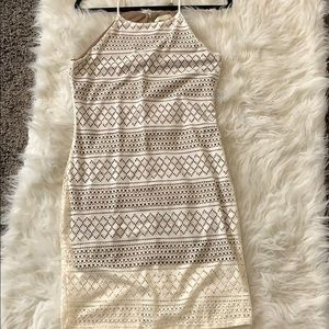 White tan large dress